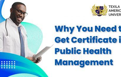 Certificate in Public Health Management